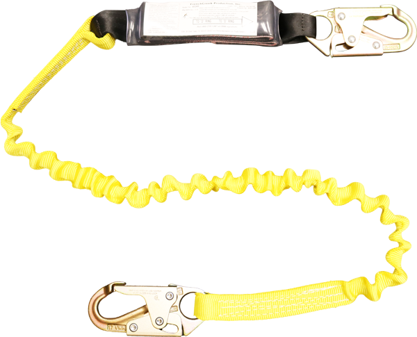 FrenchCreek's 450as shock absorbing safety lanyard with self locking snaps