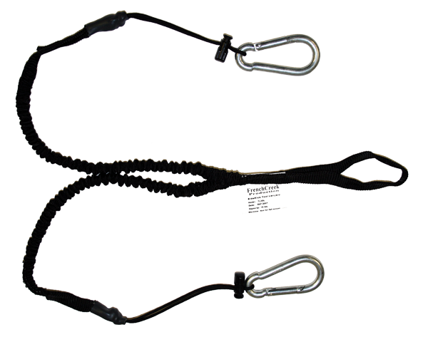 TL3DL dual-leg tool lanyard with elastic stretch and carabiner