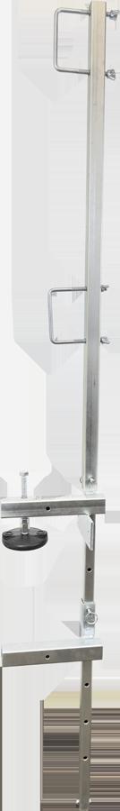 FrenchCreek's GR200 portable guardrail system in concrete slab setup